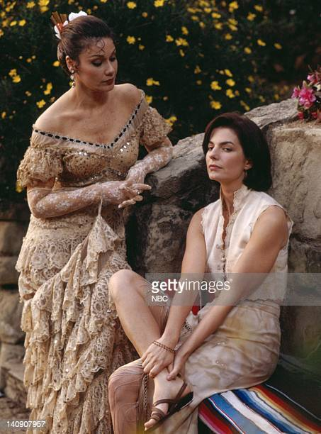 SISTERS Enchanted May Episode 24 Aired 5/6/95 Pictured Marta DuBois as Rosa Maria Castio Sela Ward as Teddy Reed Photo by Alice S Hall/NBCU Photo Bank