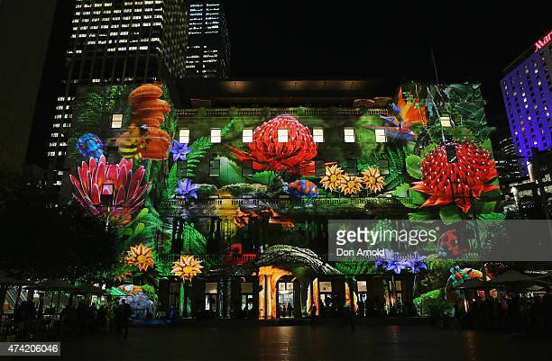 'Enchanted Sydney' an artwork by Spinifex is projected onto Customs House during a Vivid Sydney festival media preview during the media preview for...
