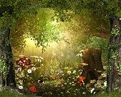 Enchanting Lush ,Fairy Tale Woodland
