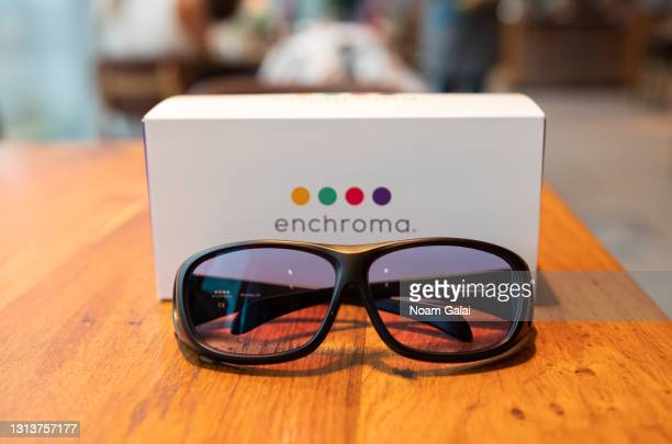 EnChroma glasses are on display as Eataly NYC Downtown reopens with Color Factory for La Pizza & La Pasta A Colori art installation created by artist...