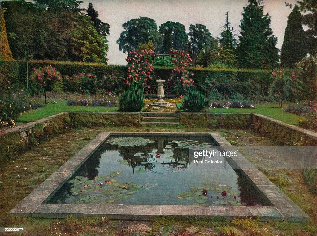 Enclosed Garden And Lily Pool At Gatton Park, Surrey, 1914.