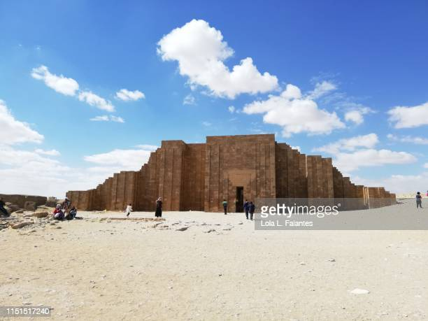 Enclosure wall of the funerary complex of pharaoh Djoser in Saqqara, Egypt