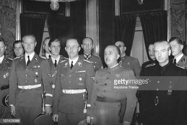 Encounter Between The General Franco And Himmler At Madrid In Sapain During Thirties