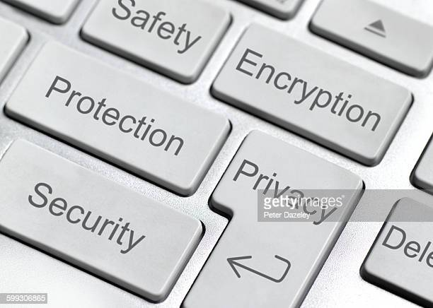 encryption button on keyboard - encryption stock pictures, royalty-free photos & images