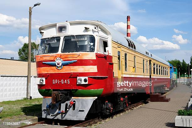 CONTENT] End car of DR1045 DMU preserved in Museum of railway in Brest