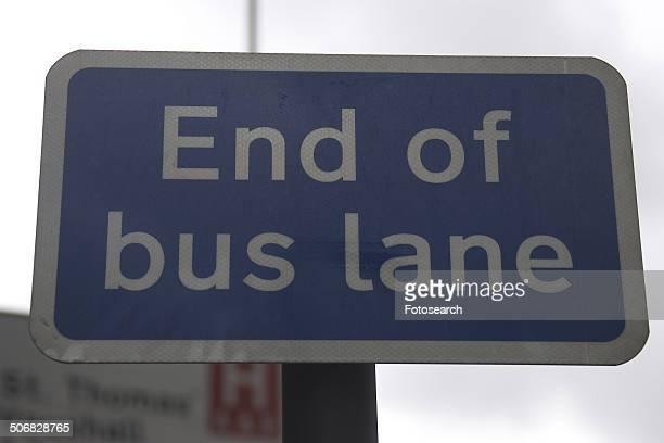 End of bus lane