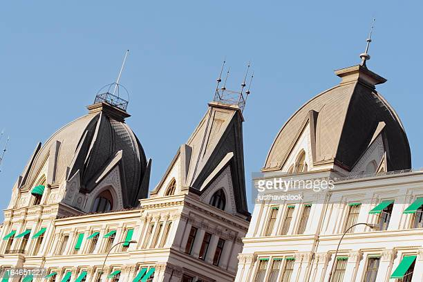 fin de siècle domes - spire stock pictures, royalty-free photos & images