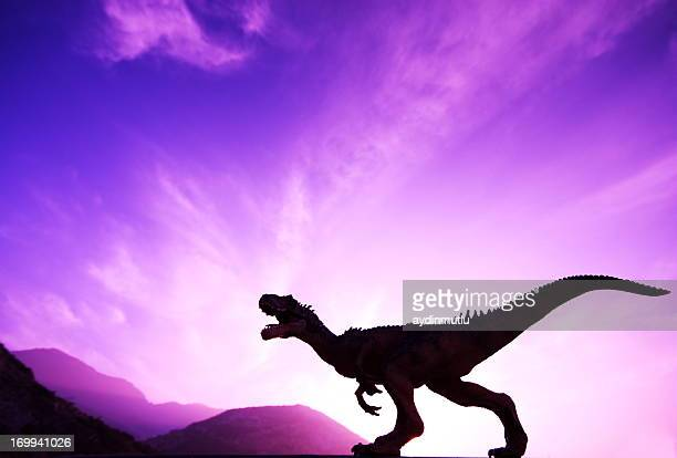 end of dinosaurs - tyrannosaurus rex stock photos and pictures