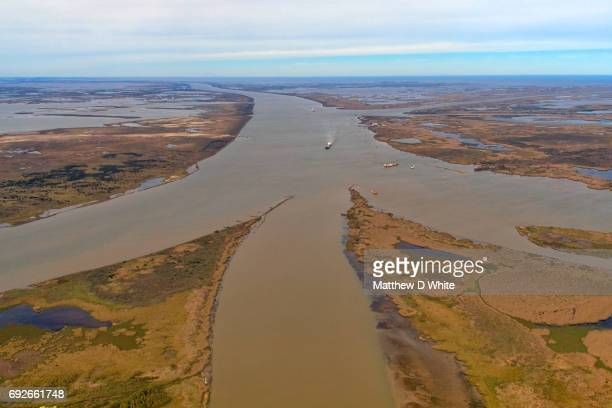 end of mississippi river, head of passes, plaquemines parish, louisiana - mississippi delta stock photos and pictures