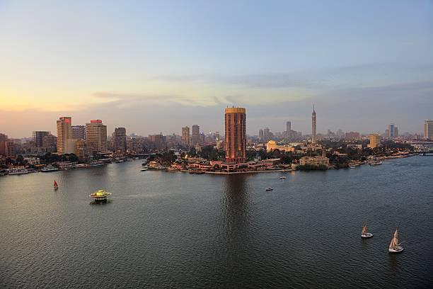 End Of Nile ... Cairo Wall Art
