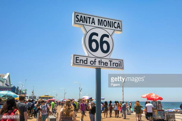 End of Route 66 road sign