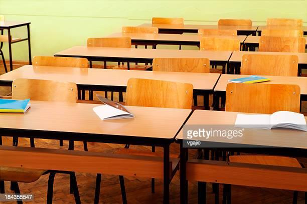 End Of School, empty classroom