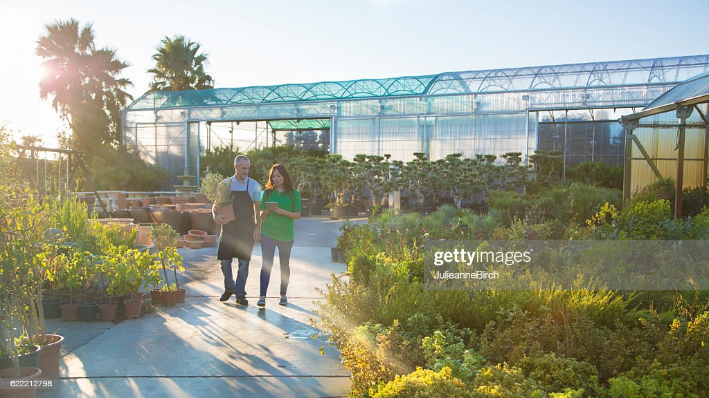 End of the day in a Garden Center : Stock Photo