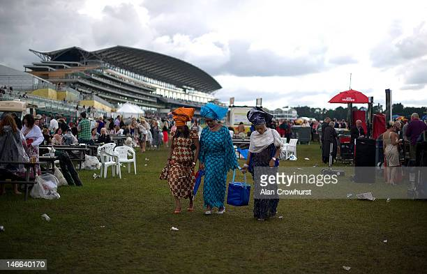 End of the day in the silver ring during Ladies Day at Royal Ascot at Ascot racecourse on June 21, 2012 in Ascot, England.