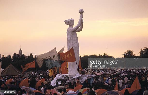 End of the demonstration at Tianamen Square in Beijing China on June 01st 1989