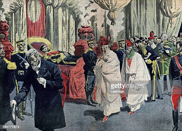 funeral of emperor Meiji the great Tokyo Japan june 1912 Illustration from french newspaper Le pelerin 11th august 1912 Private collection