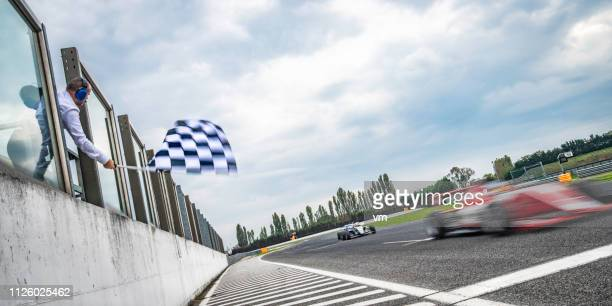 end of the race - motorsport stock pictures, royalty-free photos & images