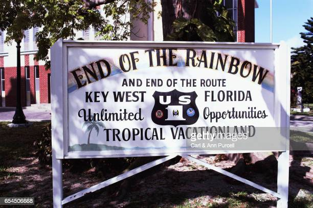 End of the Rainbow Sign at Key West