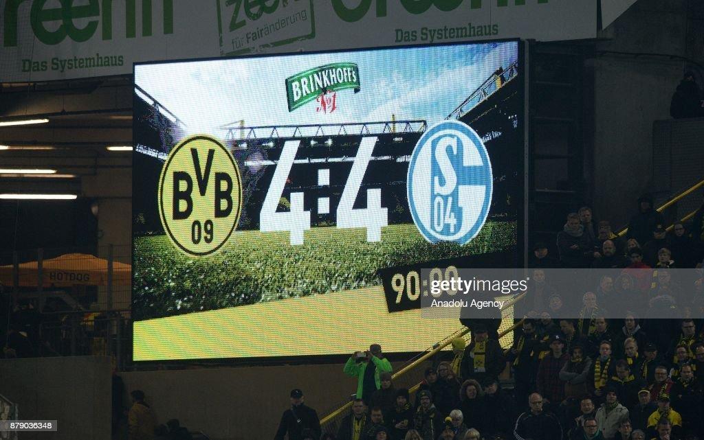 Borussia Dortmund vs FC Schalke 04 - Bundesliga : News Photo