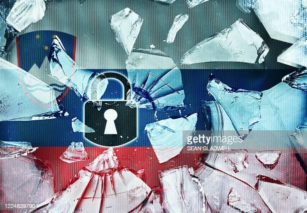 end to slovenia lockdown - スロベニア国旗 ストックフォトと画像