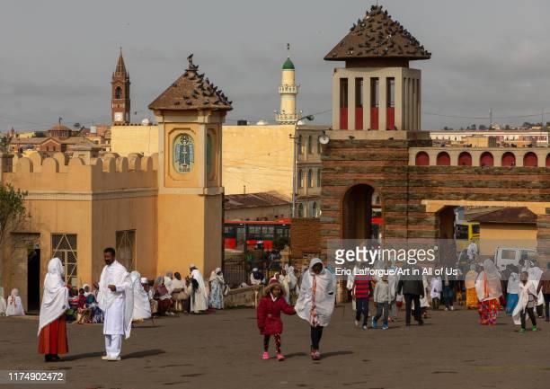 Enda mariam orthodox cathedral, Central region, Asmara, Eritrea on August 18, 2019 in Asmara, Eritrea.
