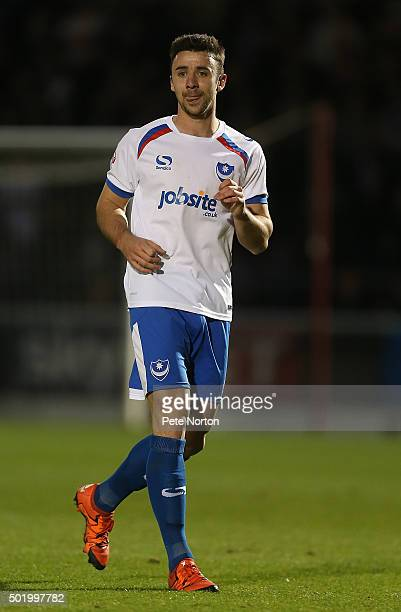 Enda Stevens of Portsmouth in action during the Sky Bet League Two match between Northampton Town and Portsmouth at Sixfields Stadium on December 19...