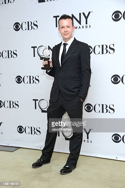 Enda Walsh poses in the 66th Annual Tony Awards press room at The Beacon Theatre on June 10 2012 in New York City