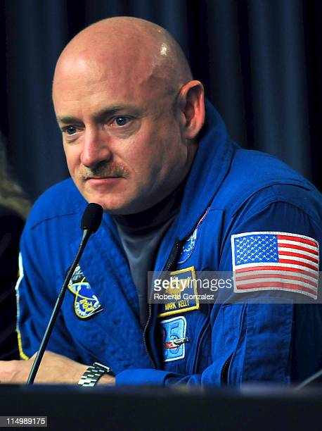 Endeavour Commander Mark Kelly during press conference after landing safely at the John F. Kennedy Space Center after it's last mission, June 1, 2011...
