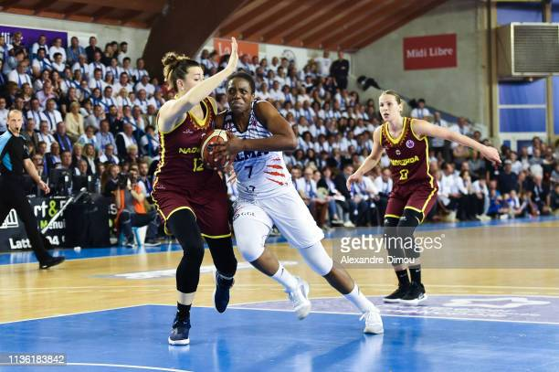Endene Myem of Montpellier and Ksensiia Tikhonenko of Orenburg during the Final Women EuroCup match between Montpellier Lattes and Nadezhda Orenburg...