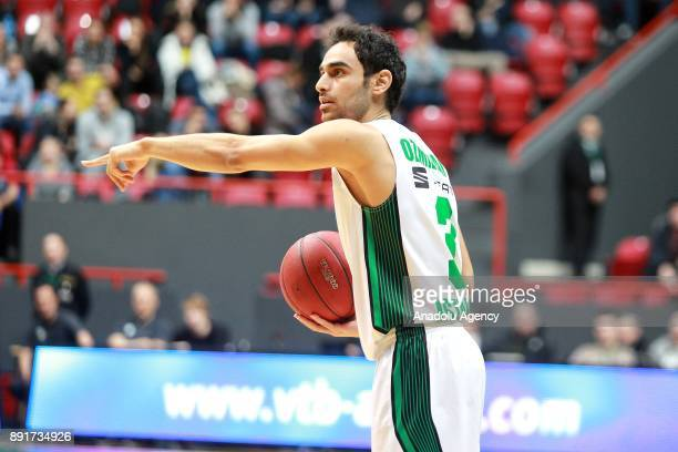 Ender Arslan of Darussafaka Dogus in action during the EuroCup basketball match between UNICS Kazan and Darussafaka Dogus in Kazan Russia on December...