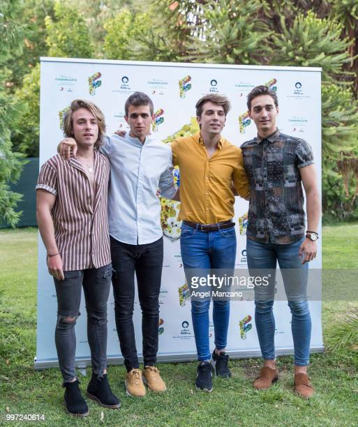 Ender band attends photocall in Funambulista concert at Noches del Bótanico Festival on July 12 2018 in Madrid Spain