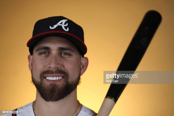 Ender Inciarte of the Atlanta Braves poses for a photo during photo days at Champion Stadium on February 22 2018 in Lake Buena Vista Florida