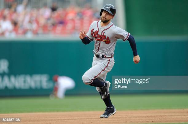 Ender Inciarte of the Atlanta Braves runs the bases against the Washington Nationals at Nationals Park on June 14 2017 in Washington DC