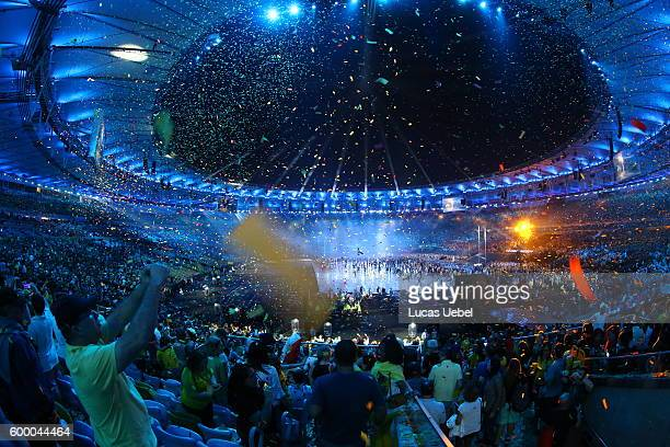 Ending of the Opening Ceremony of the Rio 2016 Paralympic Games at Maracana Stadium on September 7 2016 in Rio de Janeiro Brazil