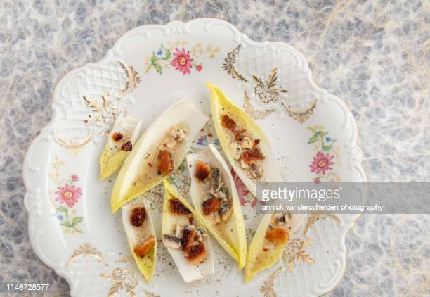 Endive salad with anchovy dressing