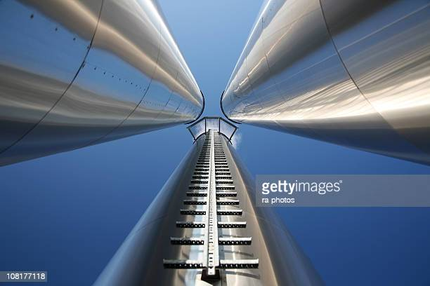 endless chimneys - carbon dioxide stock photos and pictures