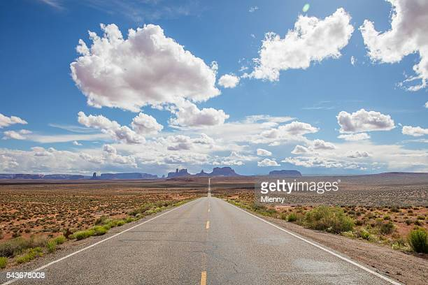 endless highway monument valley route 163 arizona utah usa - eternity stock pictures, royalty-free photos & images