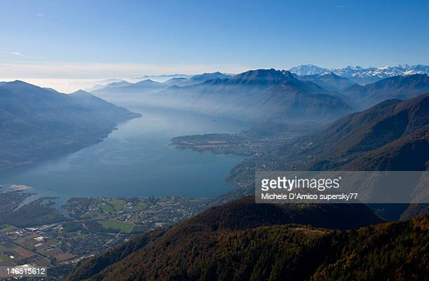 Endless mountains and Lago Maggiore