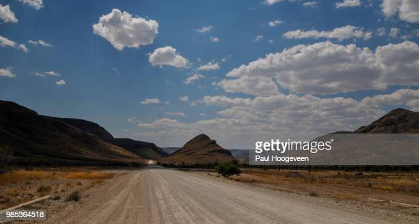endless road @ namibia - hoogeveen stock pictures, royalty-free photos & images