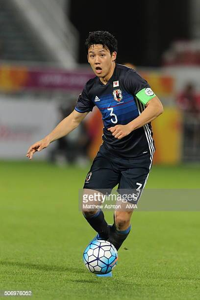 Endo Wataru of Japan during the AFC U23 Championship semi final match between Japan and Iraq at the Abdullah Bin Khalifa Stadium on January 26 2016...