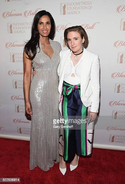 Endometriosis Foundation of America cofounder and event host Padma Lakshmi and event honoree Lena Dunham attend the 8th Annual Blossom Ball at Pier...