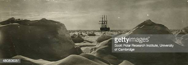 'Endurance' from across the ice fields during the Imperial TransAntarctic Expedition 191417 led by Ernest Shackleton