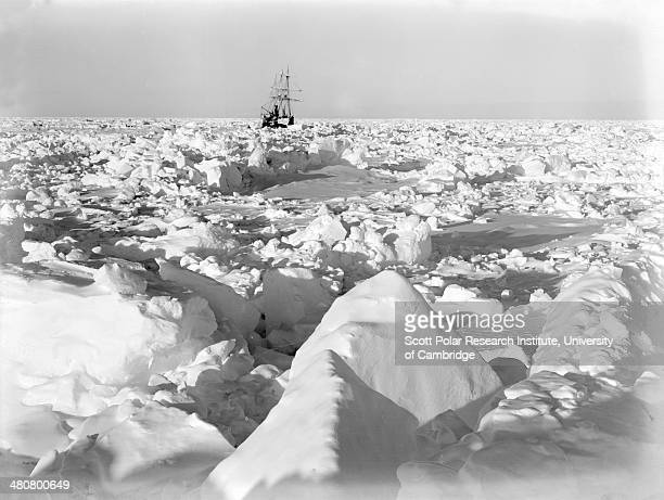'Endurance' held fast in the sea of ice during the Imperial TransAntarctic Expedition 191417 led by Ernest Shackleton