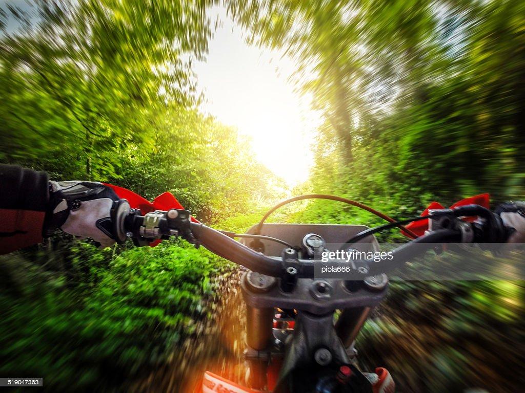 Enduro Motocross motociclismo offroad : Foto stock