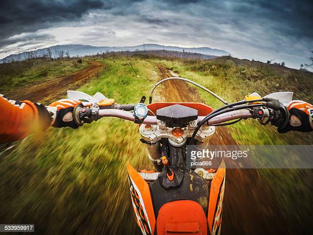 enduro motocross motorbike racing offroad - scrambling stock photos and pictures