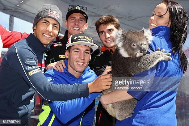 Enea Bastianini of Italy and Gresini Racing Moto3, Aleix Espargaro of Spain and Team Suzuki Ecstar, Pol Espargaro of Spain and Monster Yamaha Tech 3...