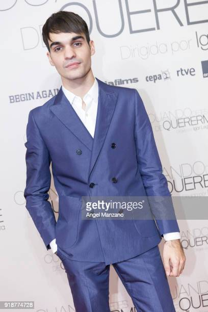 Eneko Sagardoy attends 'Cuando Dejes De Quererme' Madrid Premiere on February 15 2018 in Madrid Spain