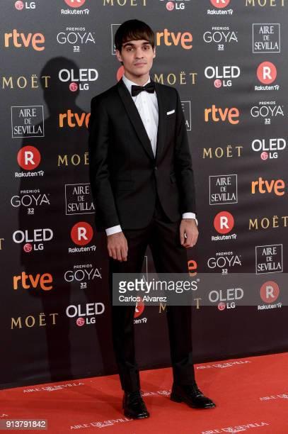 Eneko Sagardoy attends Goya Cinema Awards 2018 at Madrid Marriott Auditorium on February 3 2018 in Madrid Spain