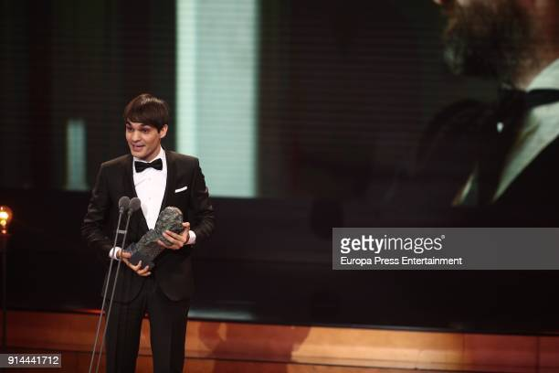 Eneko Sagardoy attends the 32nd edition of the 'Goya Cinema Awards' ceremony at Madrid Marriott Auditorium on February 3 2018 in Madrid Spain