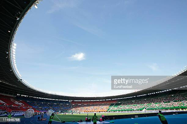 A eneral view of the Ernst Happel Stadium during the the Austrian Cup final match between SV Josko Fenster Ried and SC Austria Lustenau on May 29...